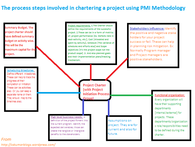 PMI-Project charter processes'