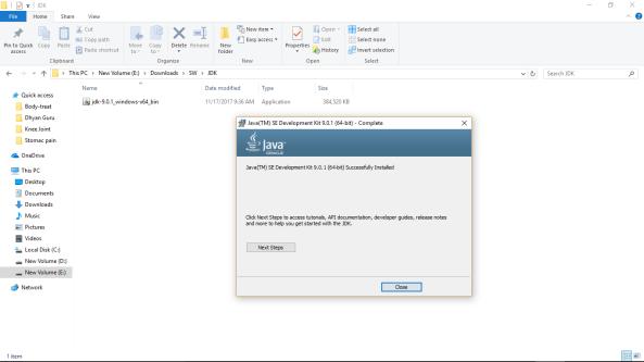 Java SE 9 install scrn-5-complete