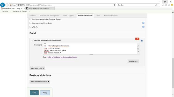 Jenkins-Build-Windows-batch commands-entry1