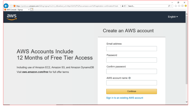 AWS Account-creation scrn