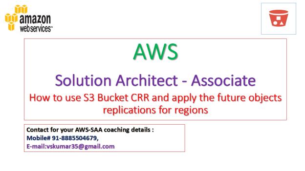 AWS-SAA-S3 CRR