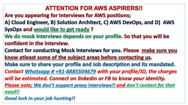 AWS-Mock-Interviews